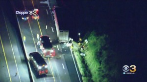 1 Injured After Car Becomes Wedged Under Tractor-Trailer In Sellersville, Bucks County