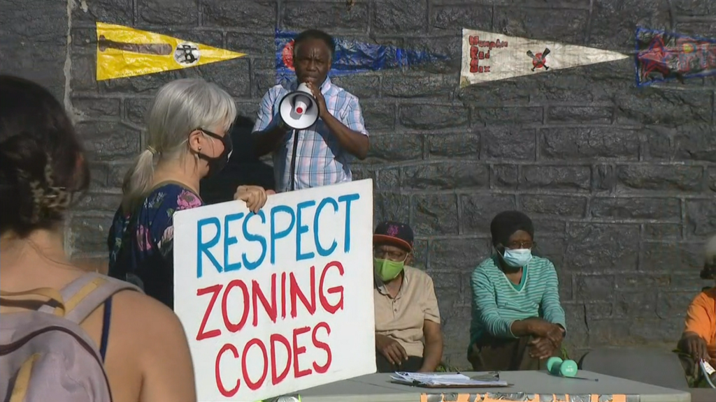 West Philadelphia Residents Rally Against Construction Of Proposed High Rise Apartment Building