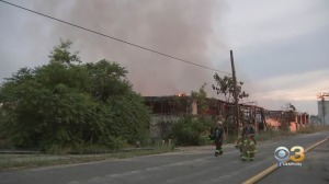 Firefighters Battle 2-Alarm Warehouse Fire At Former Glass Factory In Millville
