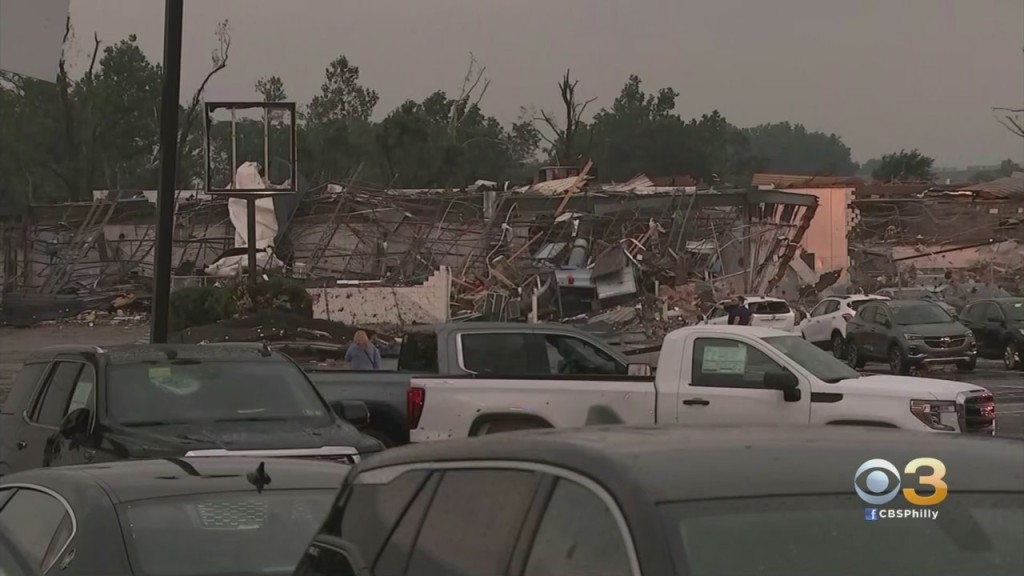 Residents Begin To Clean Up, Access Damage After Two Tornados Touch Down In Bucks County Leaving Path Of Destruction