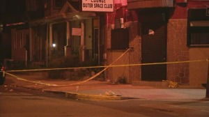 On Tuesday night, a 31-year-old pregnant woman and a 48-year-old man were shot outside of a lounge on the 5400 block of Pearl Street in West Philadelphia.