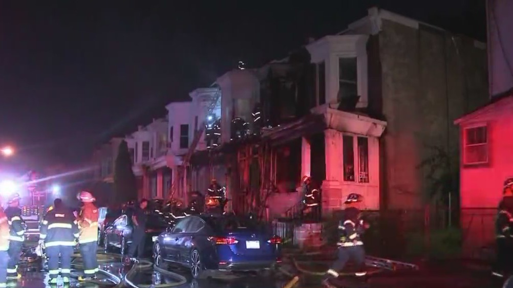 2 People Rushed To Hospital After Rowhome Fire In West Philadelphia