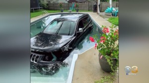 Investigation Underway After Jeep Crashes Into Gloucester Township Swimming Pool