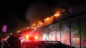 Firefighters Rush To Battle Fire In Abandoned Warehouse In Trenton, N.J.