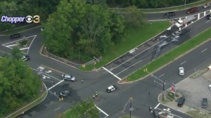 2 Injured Following Fiery Crash On Route 38 In Moorestown, New Jersey