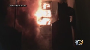 Cell Phone Video Shows 2-Alarm Fire At Former Family Center In Camden