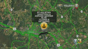 Route 422 In Montgomery County Between Sanatoga Exit, Armand Boulevard Closed In Both Directions Due To Road Work
