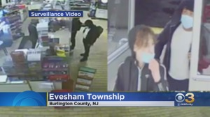 2 robbery suspects wanted for assault on Evesham Township 7-Eleven Store Clerk who refused to sell them Vape products: Police-CBS Philly